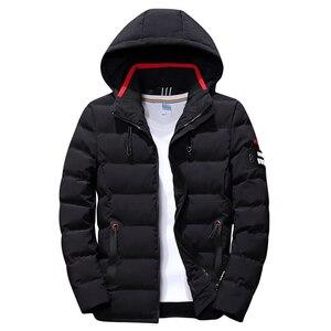 Image 3 - 2019 marke Mode Herbst Winter Jacke Parka Männer Frauen Mantel Mit Kapuze Warm Herren Winter Mantel Casual Fit Mantel 4XL Parkas männlichen