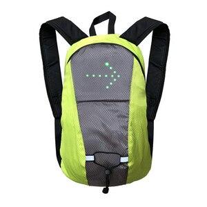 Image 3 - Torba na rower wodoodporny plecak sportowy 15L światło kierunkowskazu LED pilot zdalnego sterowania torba bezpieczeństwa odkryty piesze wycieczki plecak do wspinaczki
