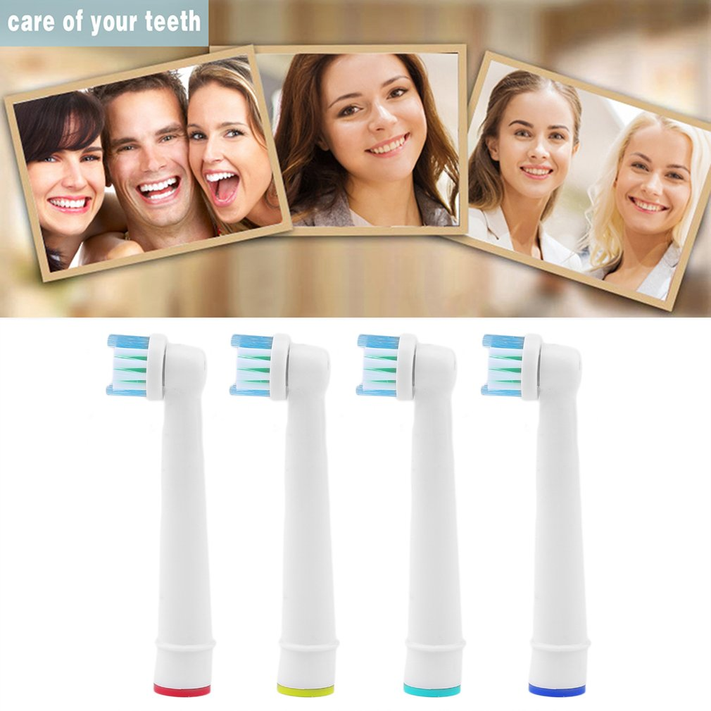 Precision 4 Pcs/Set Replacement Electric Toothbrush Heads SB-17A For Oral B Brau Tooth Brush Heads Home Use