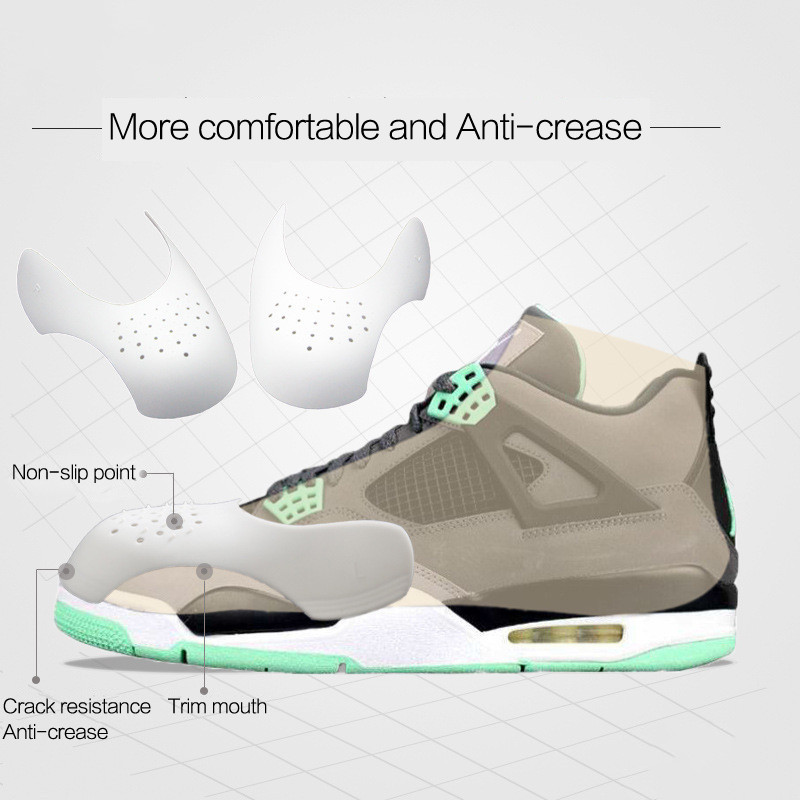 Boucliers de baskets de l'armée de l'air, protection Anti-rides pliable pour chaussures de Support, embout de protection pratique