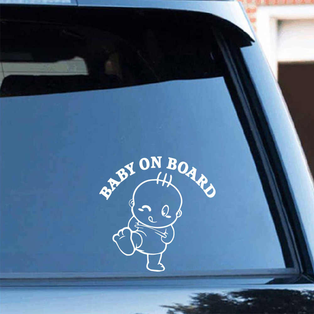 Car-styling BABY ON BOARD Carbon Sticker Vinyl Decal Sticker For Cars Acessories Decoration
