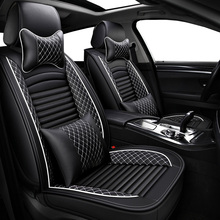 (Front+Rear) PU Leather auto universal car seat covers for Nissan X-trail t31 T32 Tiida Juke Teana Qashqai J10 murano accessorie kokololee pu leather car seat cover for nissan qashqai note murano march teana tiida almera x trai juke auto accessories styling
