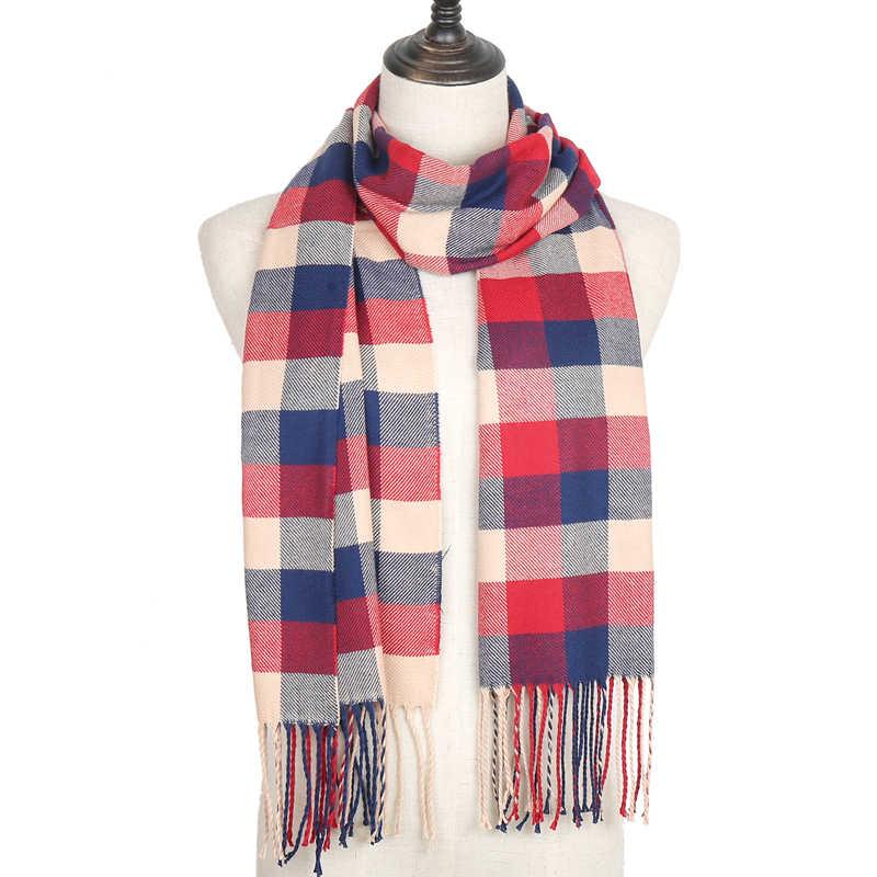 2019 novas mulheres cachecol de cashmere inverno quente lenços de pescoço echarpe bandana foulard pashmina xailes para lady feminino casual