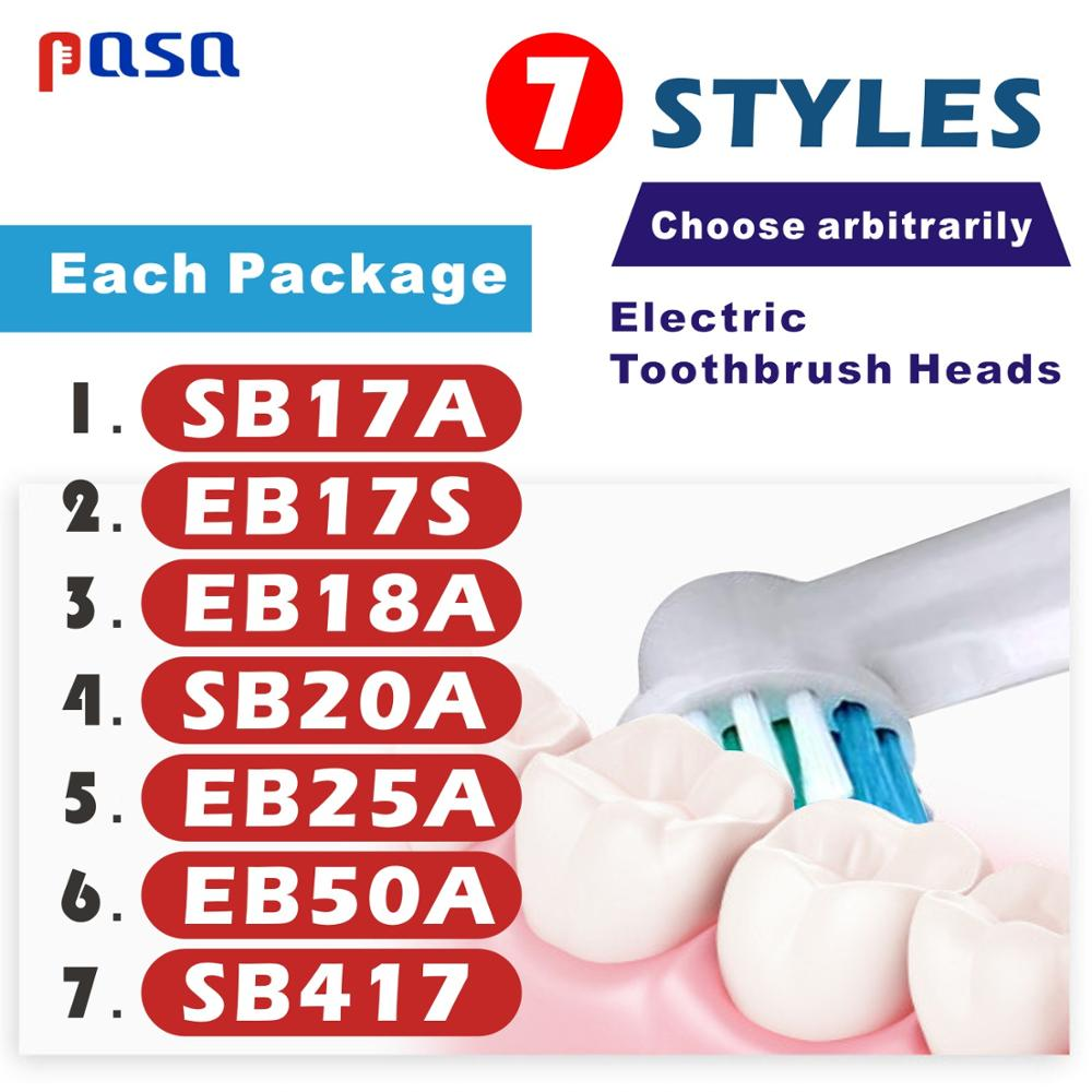 4/7pcs New Style EB17 Replacement Brush Heads/Nozzles For Oral B Electric Toothbrush Advance Power/Pro Health/3D Excel Precision image