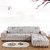 Sofa Cover Stretch Thicken Plush Fabric Sofa Covers for Living Room Lace Slip Resistant Slipcover Seat European Removable Couch
