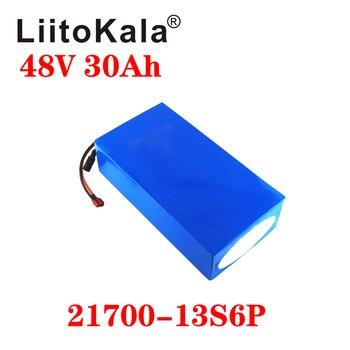 цена на LiitoKala 48V 30Ah 21700 5000mah 13S6P Lithium ion battery Scooter Battery 48v 30ah Electric Bike Battery