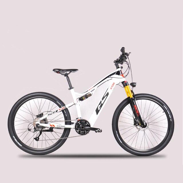 27,5 дюймовый Электрический мягкий хвост горный велосипед передние и задние двойные амортизаторы 48В Скрытая литиевая батарея ebike