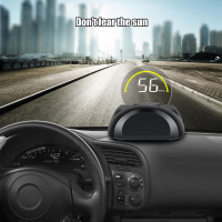 Car HUD Head up display OBD II Computer Speedometer hud film Car electronics Overspeed Voltage Alarm Single Range Display