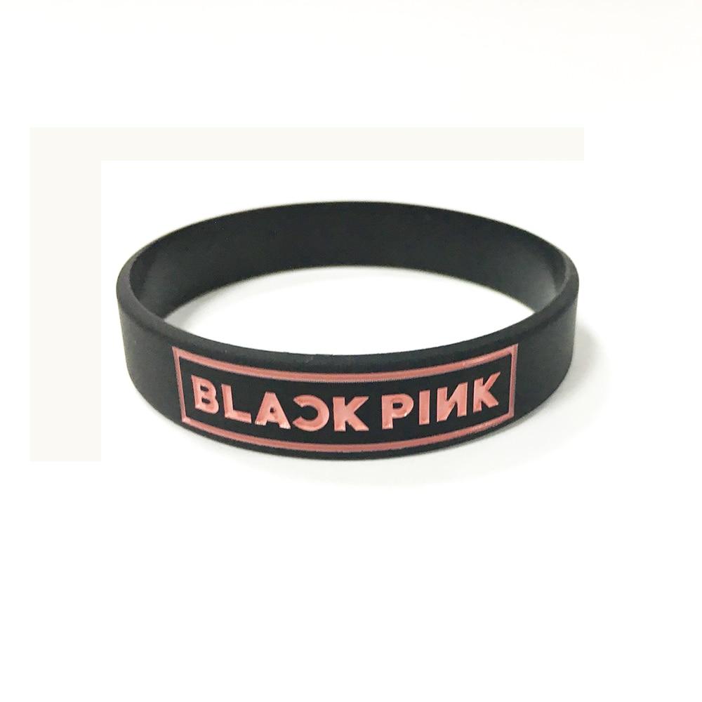 BLACKPINK Korean popular group silicone bracelet wristband For BLACK PINK custom jewelry