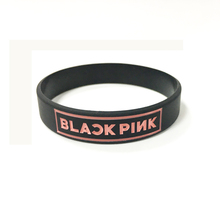 BLACKPINK Korean popular group silicone bracelet wristband For BLACK PINK custom jewelry