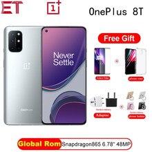 Global Rom Oneplus 8 T 8 T Snapdragon 865 5G Smartphone 8/12Gb 256Gb 120Hz vloeistof Display 48MP Quad Camera 65W Warp Lading