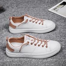 2020 frühling Neueste Faulenzer Casual Schuhe Für Männer Mode herren Sneakers Leder Turnschuhe Schuhe Flut Gummi Sohle Weiß Schuhe 39-44