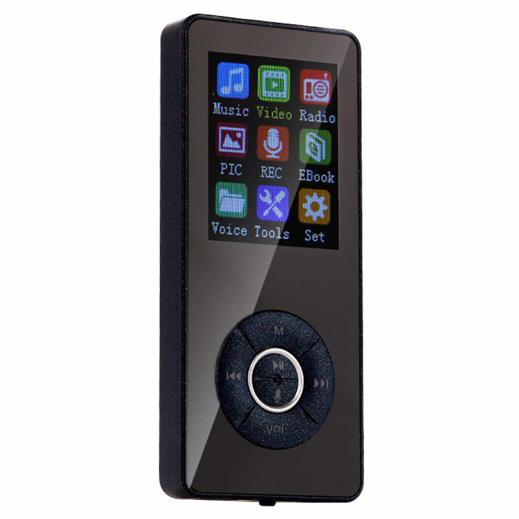 Ouhaobin Portable Bluetooth MP3 MP4 Player LCD Screen FM Radio Sport Music Speakers ultra-thin for 32G memory card