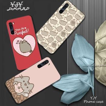 YJY lindo Pusheen gato funda de teléfono móvil para xiaomi redmi note 4X 5 6 plus 6A 7 7A 8 8A 9 Nota 4 8 T 9 pro max coque