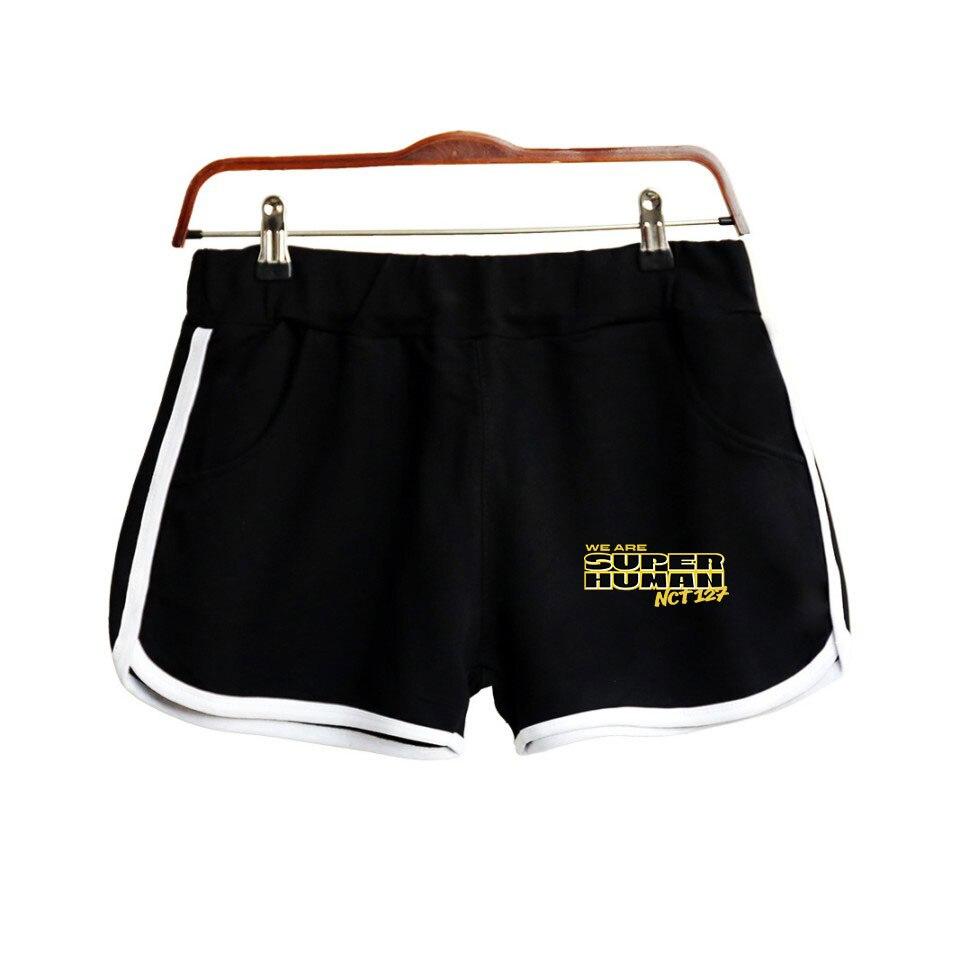 NCT 127 New WE ARE SUPERHUMAN Shorts Kpop Fashion Street Shorts 2019 Hot Ladies Fashion Tide Flow Casual Summer Shorts