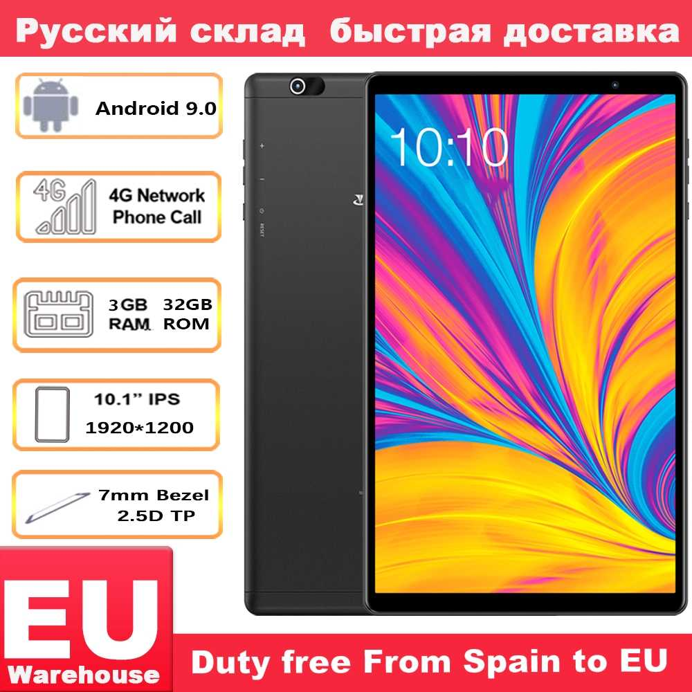 Teclast P10HD 4G Panggilan Telepon Tablet Octa Core 10.1 Inch IPS 1920X1200 3GB RAM 32GB ROM SC9863A GPS Android 9.0 6000 MAh Tablet PC