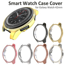 Bezel Diamond-Adhesive Anti-Scratch-Cases Galaxy Watch 42mm Gold Samsung for Crystal