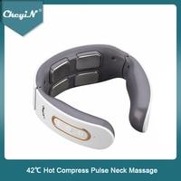 CkeyiN elektrischen Neck Massager 4D Puls Massagerb Erhitzt 6 Modi 9 Festigkeit Ebenen Tissue Trigger Punkt Massage Home Office Verwenden
