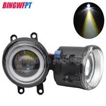 2 sztuk Super jasne LED światła przeciwmgielne + anioł oczu dla Toyota LAND CRUISER PRADO 09 13 PRIUS V RAV4 4RUNNER dla LEXUS IS250/300 CT200H