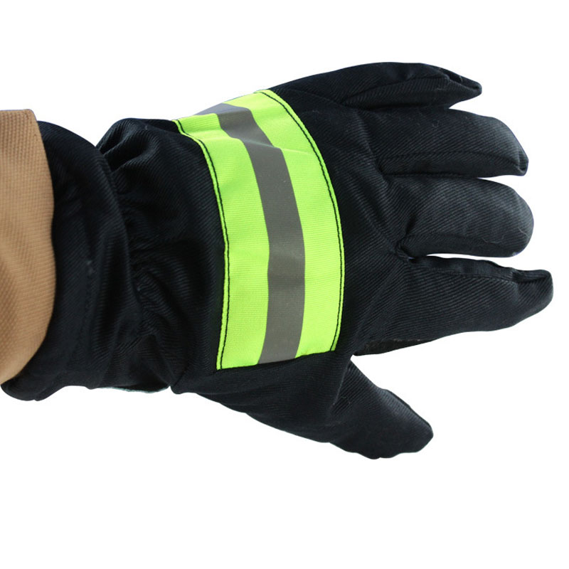 Fire Proof Gloves Wear-Resistance Non-slip Thick Safety Gloves Reflective Strap Fire Resistant Protective Gloves For Firefighter