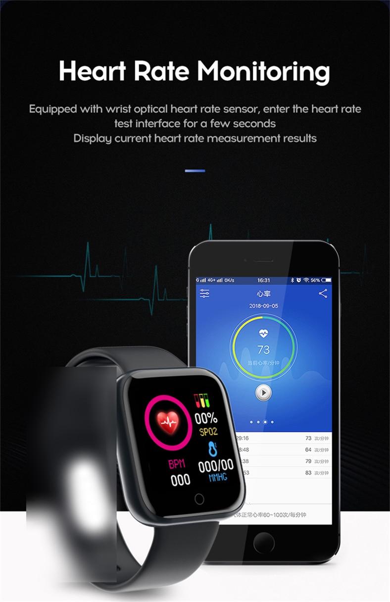 D20 PRO Bluetooth Smart Watches Waterproof Sport Fitness Tracker Smart Bracelet Smartwatch 25