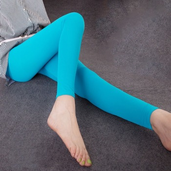 Ice cream leggings for autumn ladies candy color nine minutes on foot pants wearing ice cool silk hipster