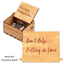65x45 мм Ретро деревянная ручная коленчатая музыкальная шкатулка из березовой фанеры, аксессуары для доски на Рождество, день рождения, милый подарок для детей, декор для вечеринок