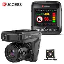 Ruccess STR-LD200-G 3 в 1 Автомобильный видеорегистратор, радар-детектор лазер с gps Full HD 1296P 1080P Двойной регистратор, камера заднего и Переднего Вида