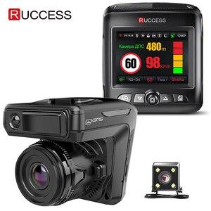 Image 1 - Ruccess STR LD200 G 3 in 1 Auto DVR Radar Detector Laser Con Il GPS Full HD 1296P 1080P Dual Registratore del precipitare Della Macchina Fotografica Anteriore e Posteriore