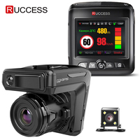 Ruccess STR LD200 G 3 in 1 Car DVR Radar Detector Laser With GPS Full HD 1296P 1080P Dual Recorder Dash Camera Front and Rear