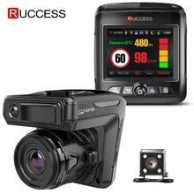 Rucess STR-LD200-G 3 en 1 coche DVR Detector de Radar láser con GPS Full HD 1296P 1080P Dual Recorder Dash cámara delantera y trasera