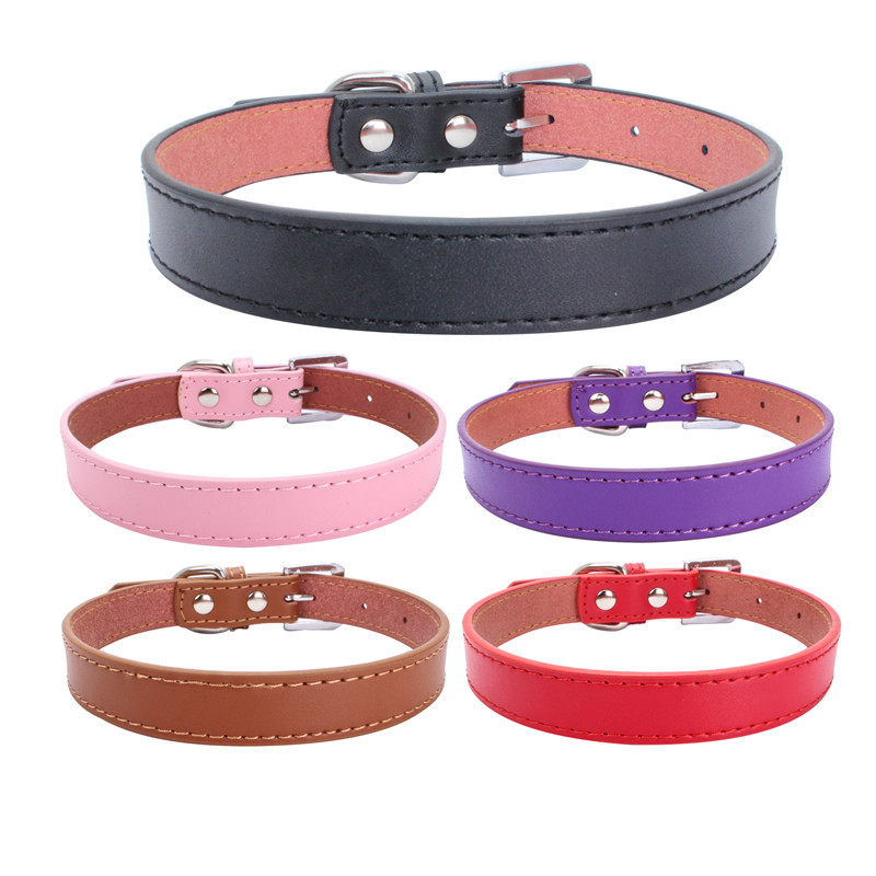 Berry New Style Genuine Leather Pet Collar Dog Chain Dogs And Cats Supplies Manufacturers Direct Selling Applicable Small, Mediu