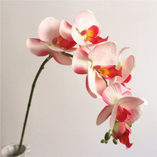 1Pc Realistic Artificial Butterfly Orchid 7 Heads Fake Flower DIY Wedding Party Decor