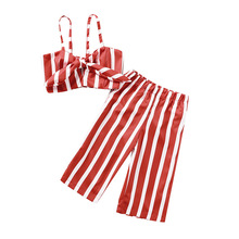 fashion striped kids girls clothing sets summer newborn baby girls clothes cotton tops pant children clothes suits 1 5 years Fashion Striped Kids Girls Clothing Sets Summer Newborn Baby Girls Clothes Cotton Tops+Pant Children Clothes Suits 1-5 Years