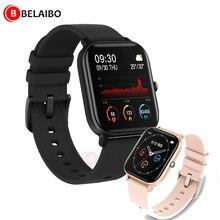 P8 inteligente relógios de freqüência cardíaca 116 mais toque inteligente relógio pulseira esportes relógios banda inteligente masculino feminino smartwatch para android