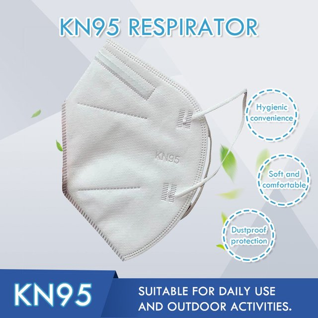1pc KN95 Anti Flu Mouth Mask 95% Filtration Disposable Outdoor Protective Face Mask Respirator 4