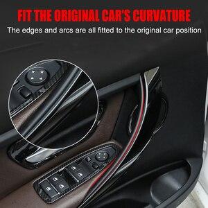 Image 5 - 자동차 스타일링 카본 스타일 인테리어 도어 핸들 BMW 3 4 시리즈 F30 F35 2012 2013 2014 2015 2016 용 보호 프레임 커버