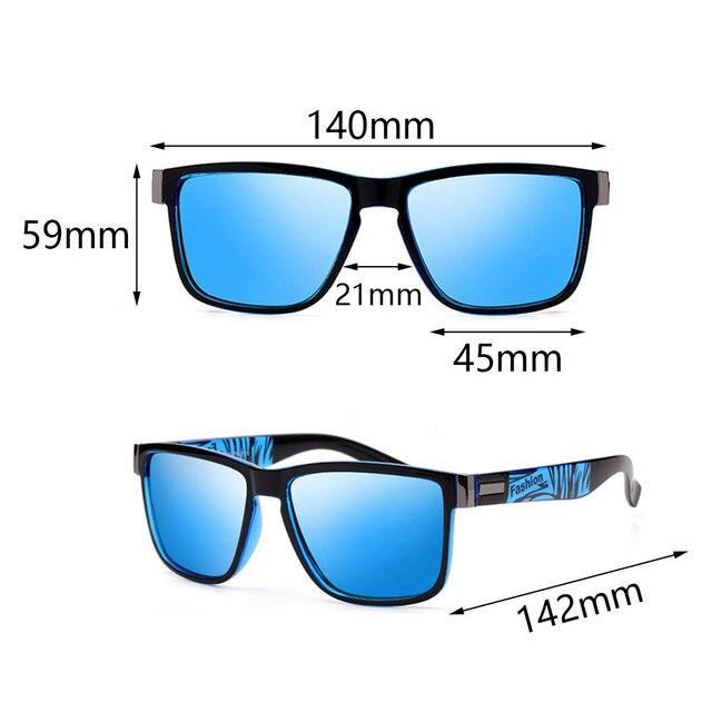 Fashion Wrap Square Frame Retro Polarized Sunglasses  6