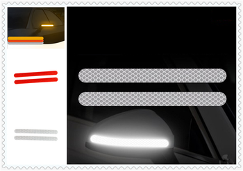 2PCS car sticker rearview mirror reflective strip Auto parts for Fiat Croma Linea Ulysse Oltre 600 1200 520 20-30 16-20 image