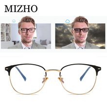 MIZHO 2020 High Quality Metal korea Glasses Frame Optical Men Anti Radiation Rays Oval Sung