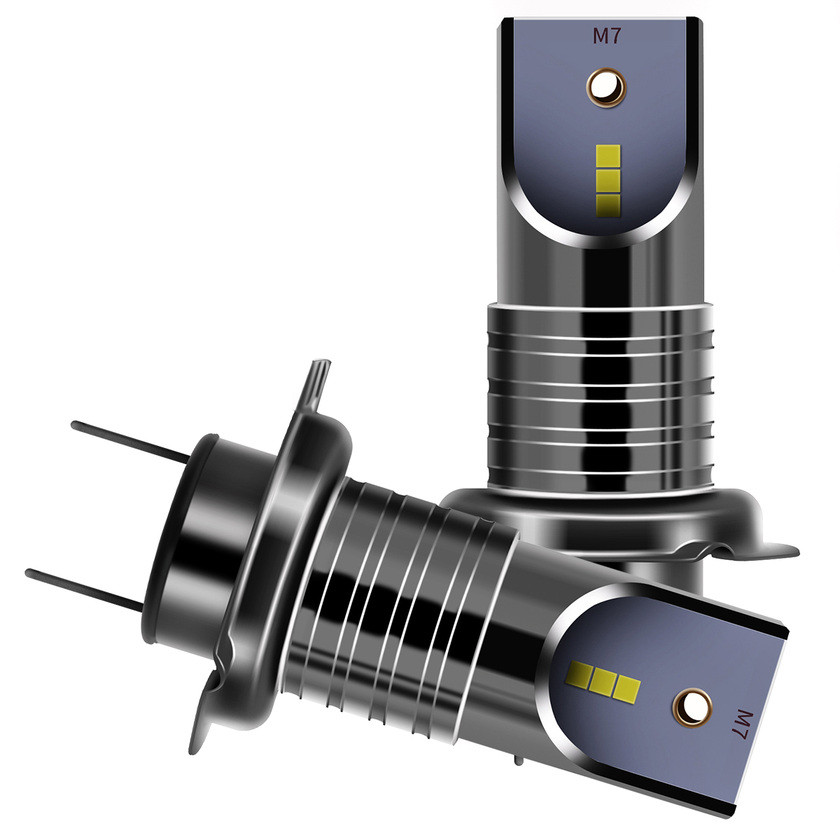 6000K Автомобильные светодиодные лампы для фар, конверсионный комплект из 2 предметов, холодный белый свет 7200LM 50 Вт в комплекте, водонепроница...