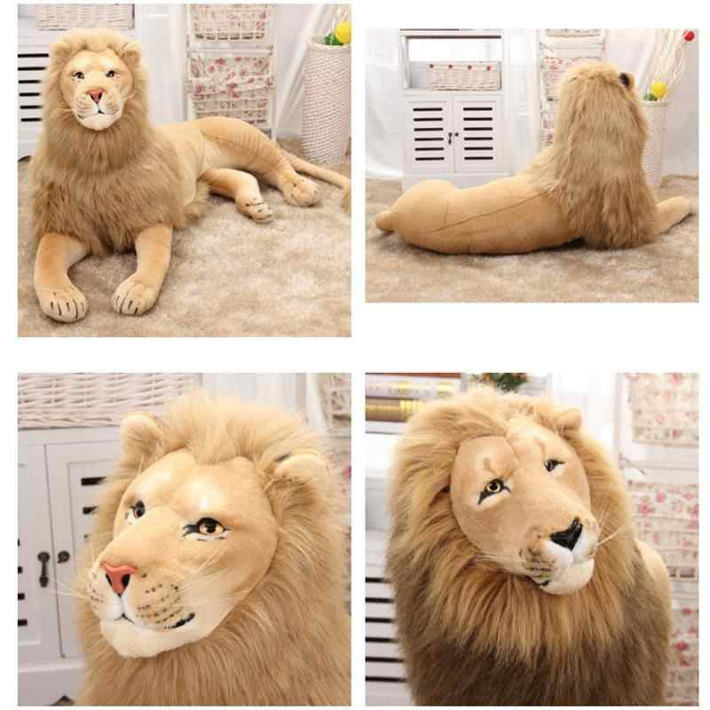 Kaliteli aslan peluş oyuncaklar dolması Doll simülasyon hayvan çocuk oyuncakları ev dekorasyon zanaat noel doğum günü hediyeleri