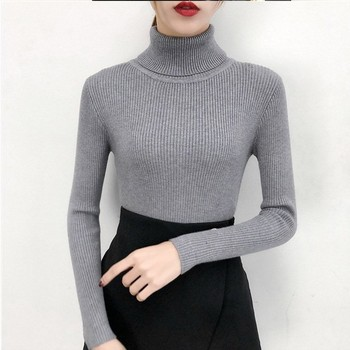 Bonjean Autumn Winter Knitted Jumper Tops turtleneck Pullovers Casual Sweaters Women Shirt Long Sleeve Tight Sweater Girls 3