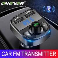 Transmetteur FM de voiture Onever Aux Modulator Bluetooth Connection Kit de voiture Adaptateur de lecteur MP3 avec charge rapide 5V / 4.1A Fonction A2DP Chargeur de voiture USB double Charge intelligente mains libres