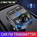 Onever Auto FM Transmitter Aux Modulator Bluetooth Bluetooth Verbindung Lautsprecher Car Kit MP3 Player Adapter mit 5V / 4.1a Schnellladung A2DP Funktion Dual USB Auto Ladegerät Freisprecheinrichtung Smart Charging-in FM-Transmitter aus Kraftfahrzeuge und Motorräder bei