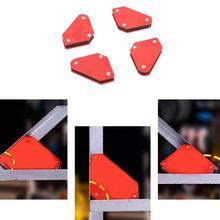 4PCS/Set 9LB Angle Soldering Locator Welder Welding Magnet Holder Holder Magnetic Welding Arrows Corner Tool Magnetic Z7A5