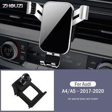 Suporte do telefone móvel do carro suporte de ventilação de ar montagens suporte de navegação por gravidade gps para audi a4 a5 b9 8wh 2017-2020 acessórios do carro
