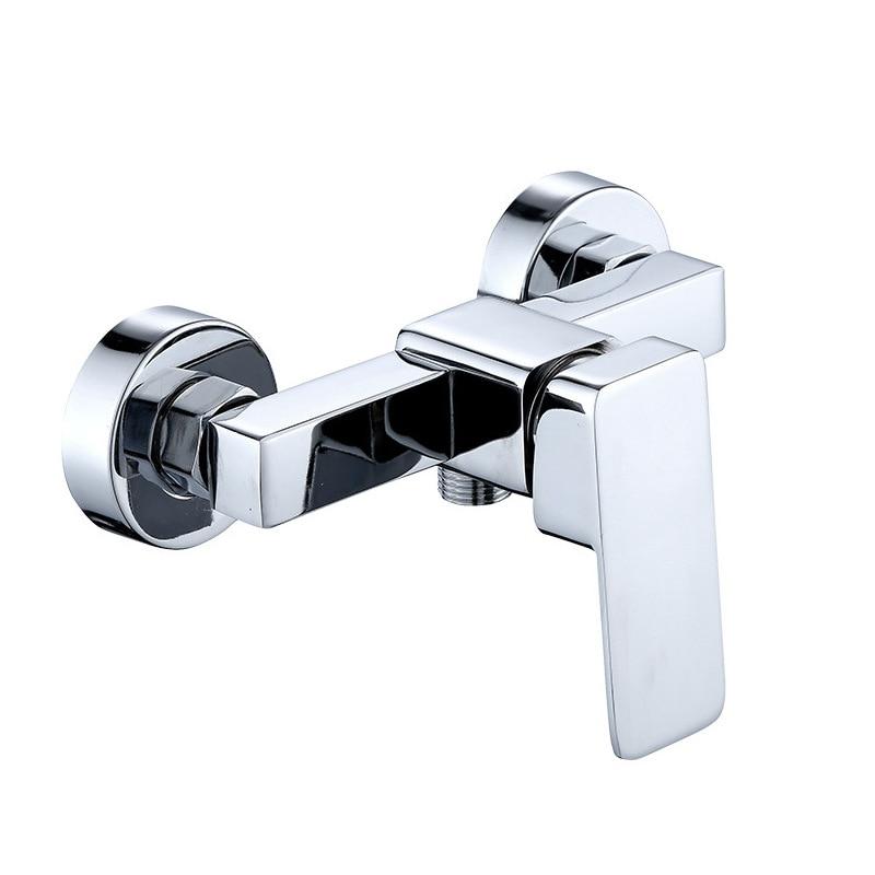 Zinc Alloy Square Shower Faucet Wholesale Shower Faucet Bathroom Mixed Hot And Cold Faucet Manufacturers