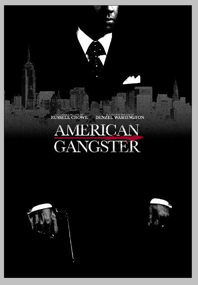 AMERICAN GANGSTER 2007 Classic Movie Denzel Washington Silk Poster Wall Sticker Decoration Gift image