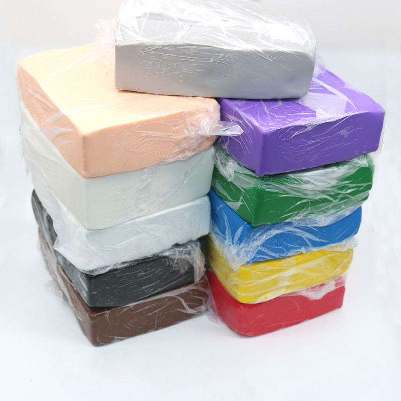 Professional DIY Soft Polymer Clay Mud For Baking Blue Pottery Sculpting Ceramic Action Doll Modeling 1kg/pack 15colors
